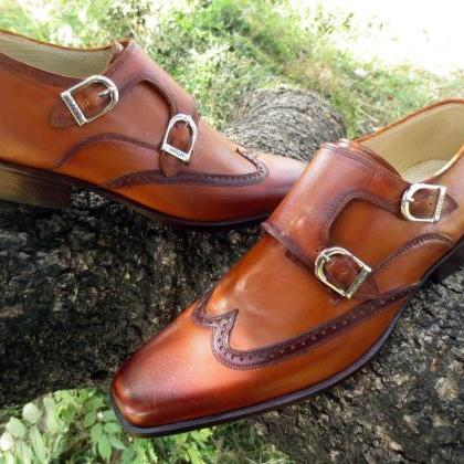 Handmade Men fashion style wingtip ..