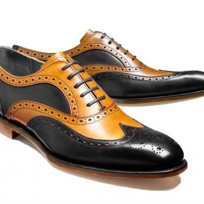 Leather shoes for Men Two tone Cust..
