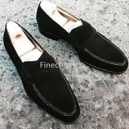 Men Slipper Shoes Black Color Loafe..
