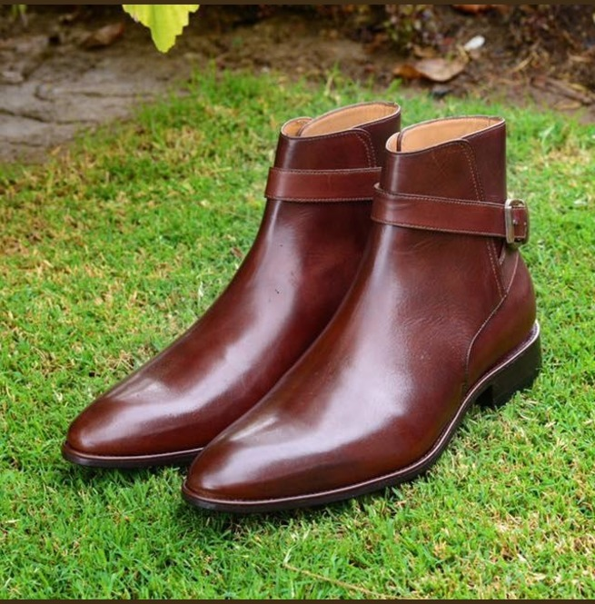 1b773b43bc7 Handmade Men Brown Jodhpurs Leather Boots, Men Ankle Leather Boots