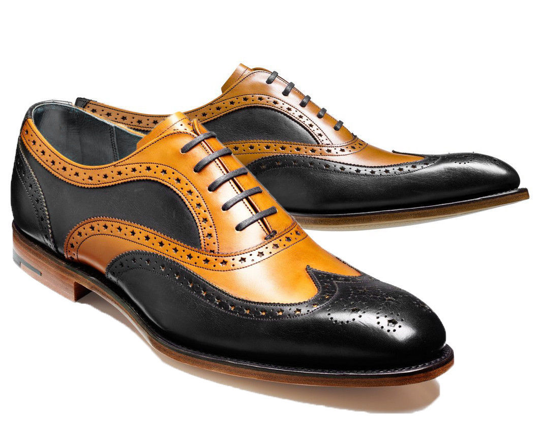 Leather shoes for Men Two tone Custom Made Dress shoes for Men Top Quality Shoe