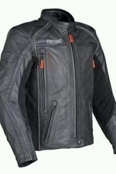 Black Color Bikers Handmade TRIUMPH Motorcycle Leather Jacket For Men