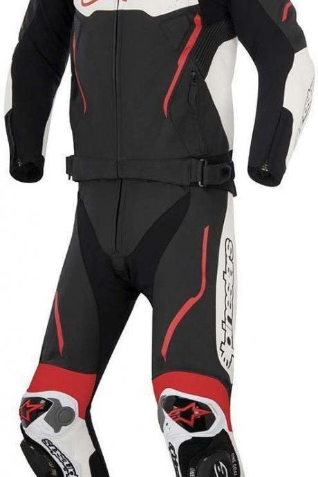 MEN Multi Motorcycle RACING Leather Suit Jacket Hump Pants For Alpinestar