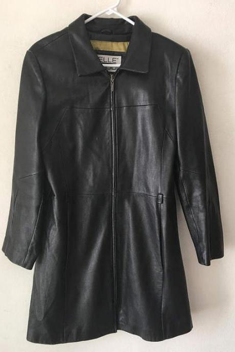 Women's Black Western Traditional Style Cowhide Leather Jacket with Fringes XS-6XL
