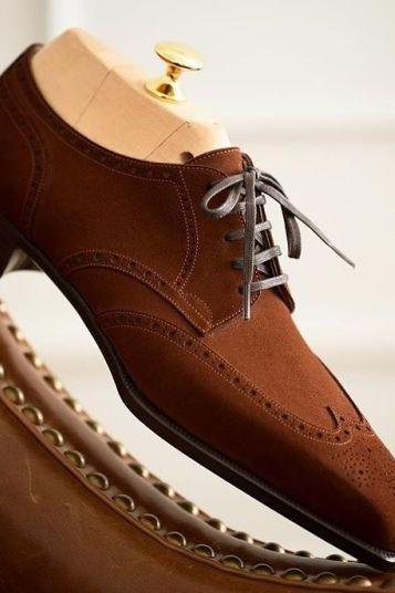 Handmade Men's Brown Shoes, Men's Suede Leather Shoes, Dress Formal Shoes men's