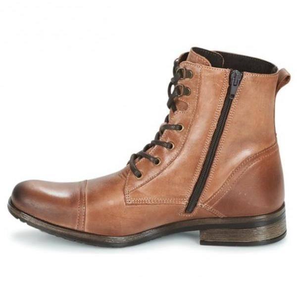 Handmade Men Military Style Leather Boots, Men Combat Boots, Men Brown Boot