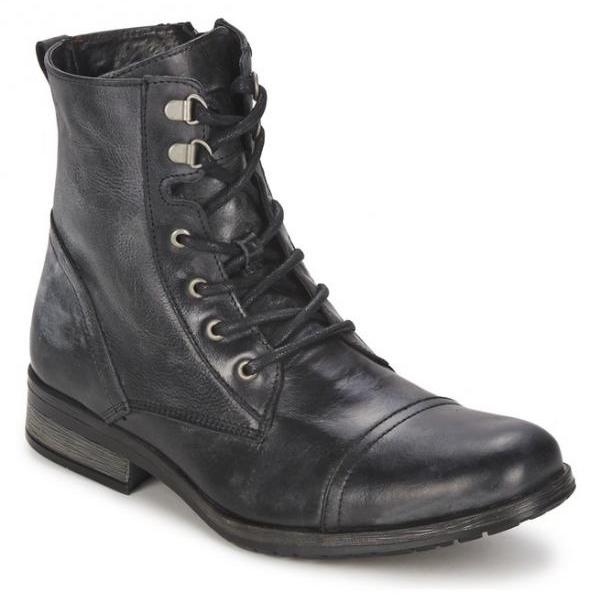 Handmade Men Military Style Leather Boots, Men Combat Boots, Men Ankle Boot
